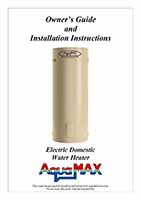 Aquamax Electric VE Owners Guide