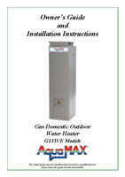 Gas water heater brochure